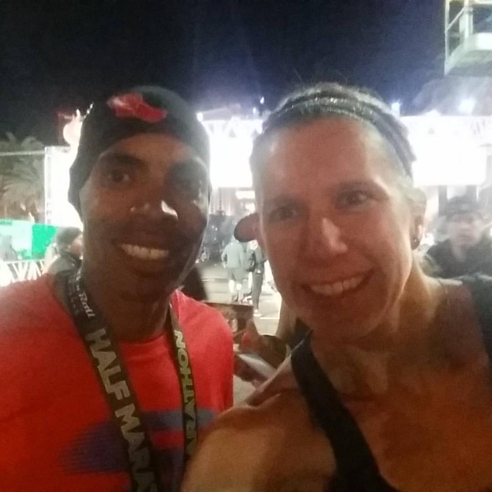 My Meb selfie at the finish line! Such a great guy.