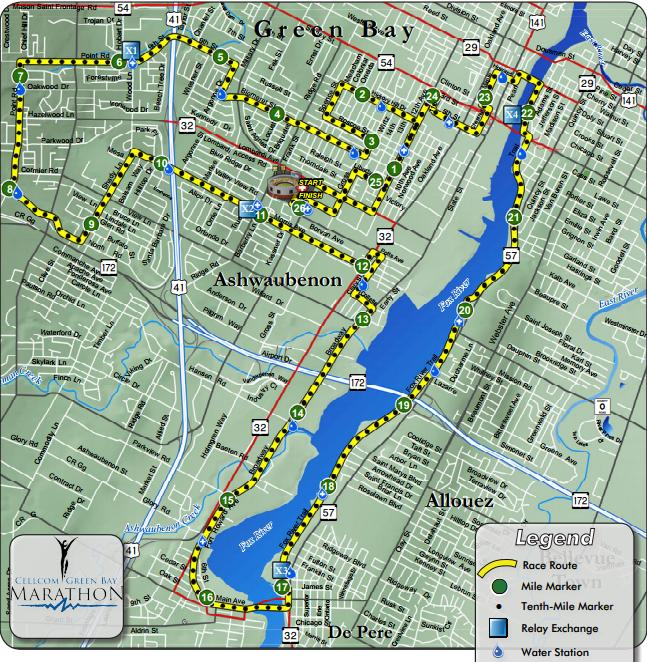 Course map provided by race website.