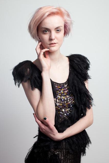 Claire Andrew AW14 Swarovski Fringed Knit Dress.jpg