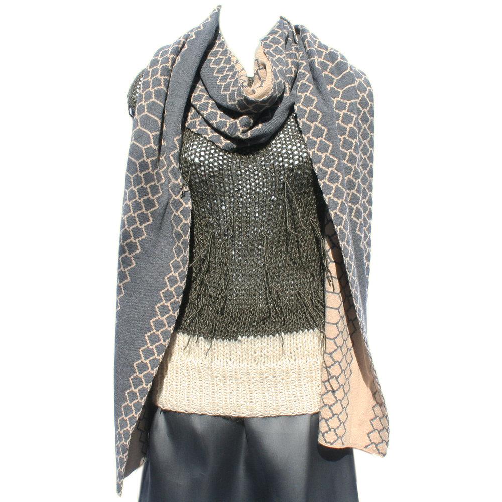 50cc0a141442b Luxury Oversize Merino Cashmere Scarf — Claire Andrew