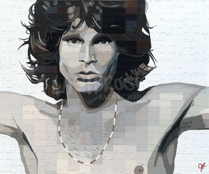 "The Lizard King, 2013, 30""x36"""