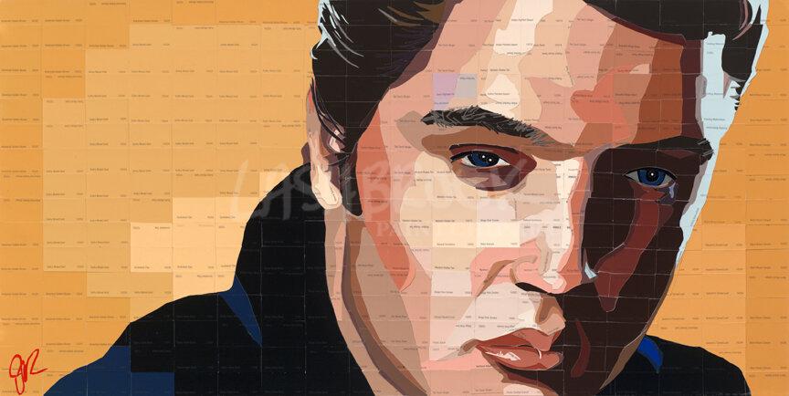 "Elvis, 2012, 18""x36"""