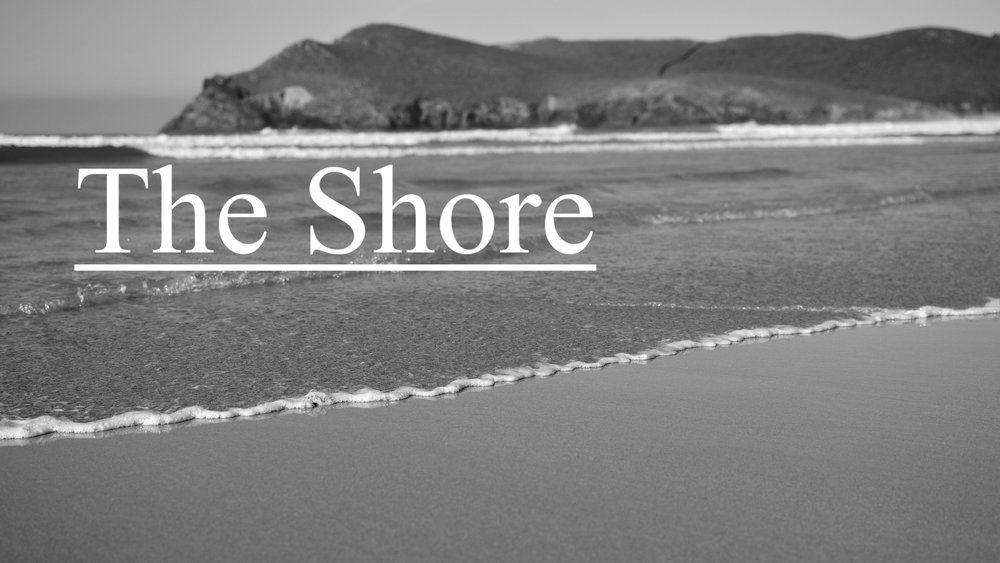 The Shore - The Shore is our monthly Sunday evening service held on the 3rd Sunday of the month from 6:00-7:00 p.m. We enjoy a casual atmosphere as we spend time singing, in prayer for one another and in the Word.