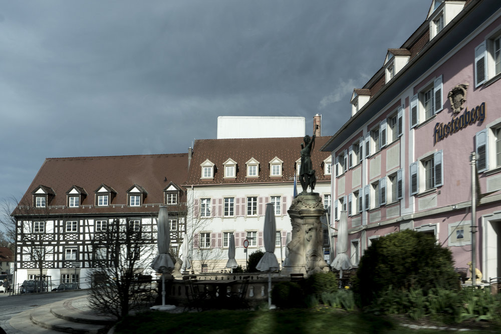 Donaueschingen : the brewery, proudly sporting the name of the former princely family...
