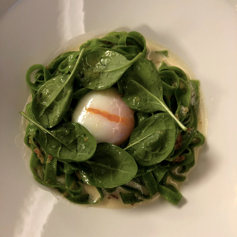 egg and salad, restaurant, Donaueschingen, Die Burg