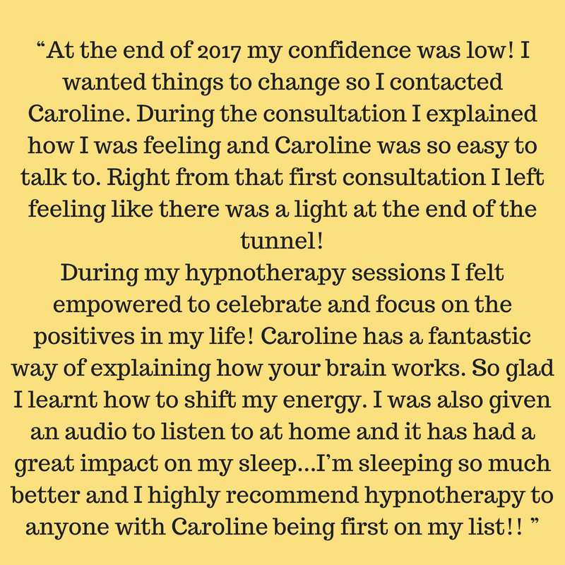 """At the end of 2017 my confidence was low! I wanted things to change so I contacted Caroline. During the consultation I explained how I was feeling and Caroline was so easy to talk to. Right from that first consultat.jpg"