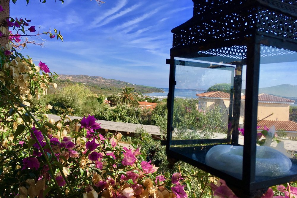 Blick von unserer Terrasse über Porto Pozzo