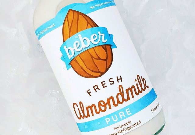 After a year of talking and designing and revising the @beber_fresh_almondmilk brand refresh is complete! Shout out to @dananandonandon for being the best client and friend.