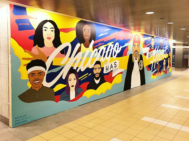 We finished the mural!!!! After 3 crazy weeks of hard work the vision is real. It would not have been possible without the amazing @amoz_of_art and @sarahjwilsonart This has been the most incredible opportunity, I feel so blessed. Go see it in real life at 55 E Randolph. Thank you all for supporting! #chicagohasmyheart