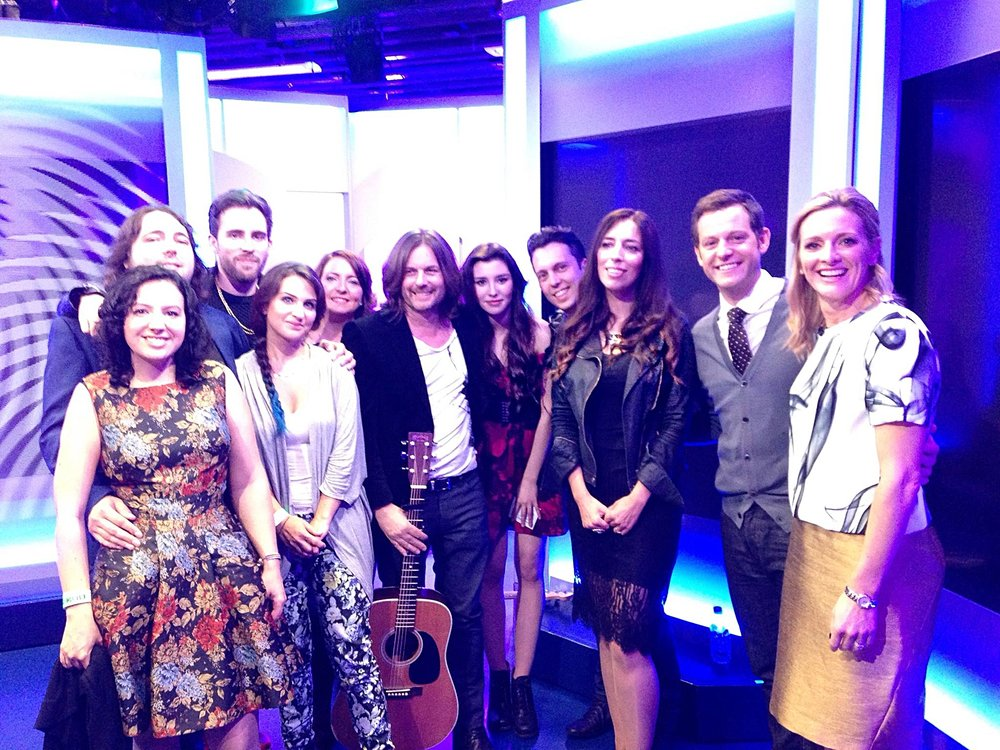 My lovely family with Matt and Gabby on the One Show