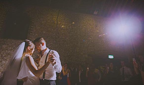 Our beautiful couple, Kim & Darren's first dance at The Granary Estates, Newmarket. Photo Credit - Ben Minnaar.