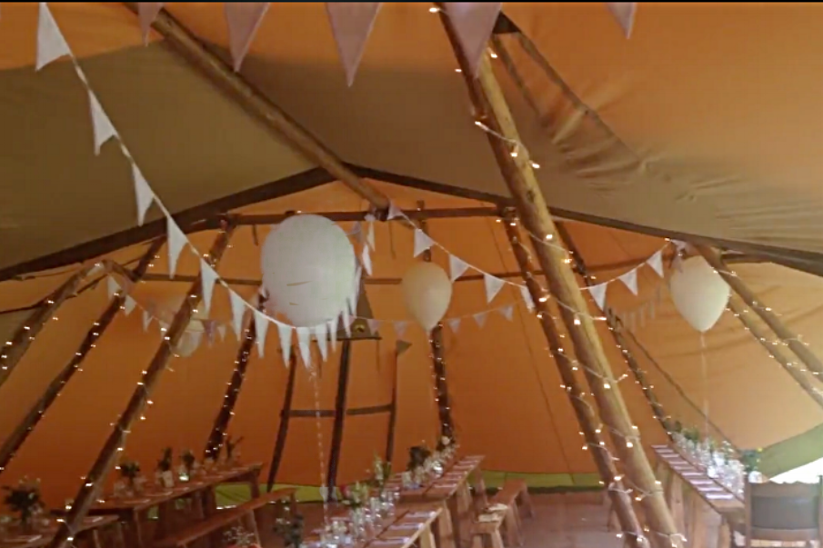 Tipi Wedding - Horningsea Village Hall