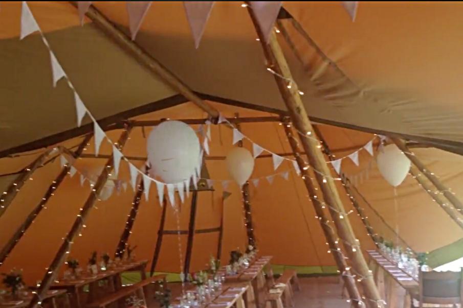 Tipi Wedding - Horningsea Village Hall