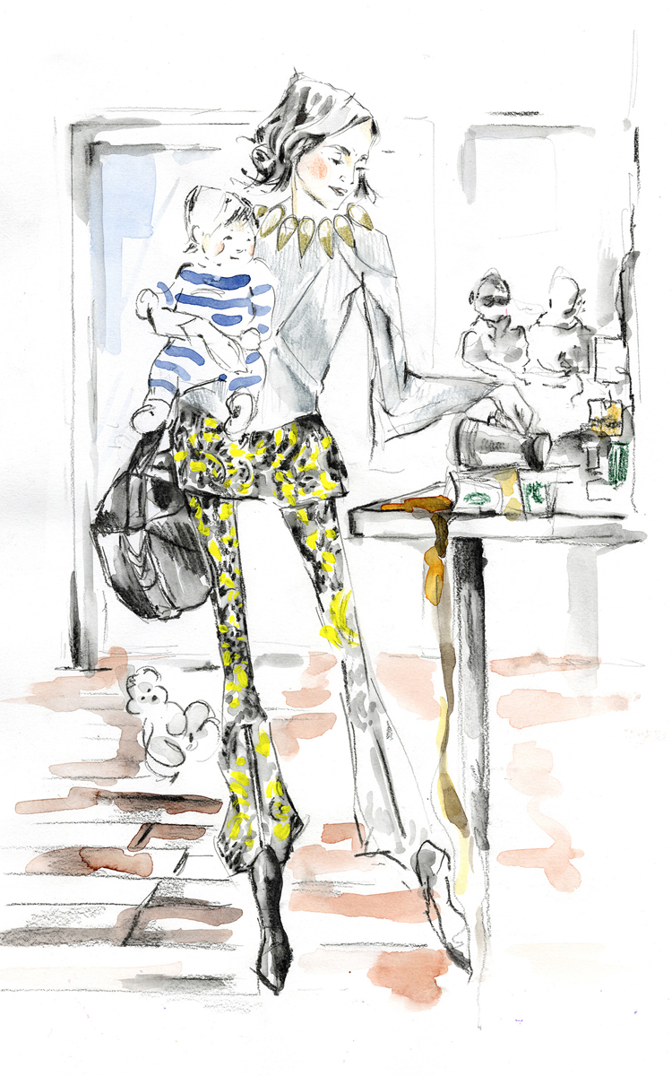 The work of artist Hillary Bott Sorrentino. Fashion. Illustration. Surface design.