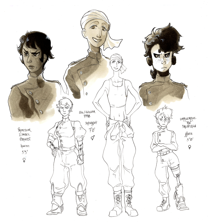 character design for broken cadence