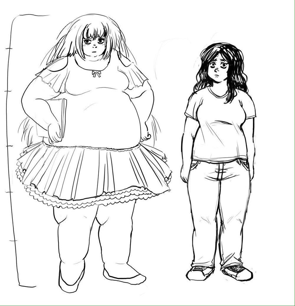 mariland and ari character designs
