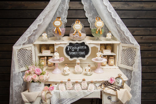 Vintage Bridal Shower Mint Event Design
