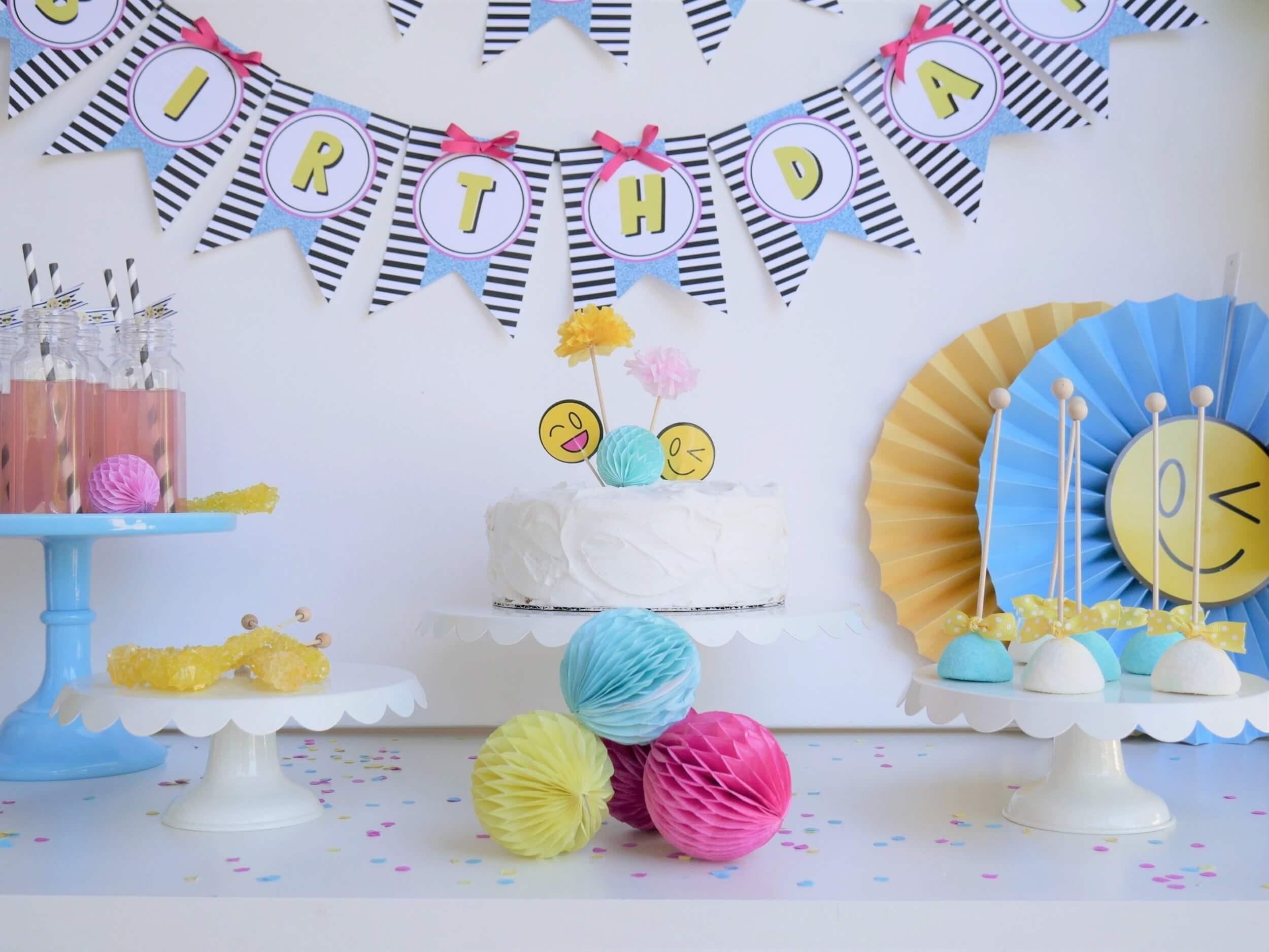Emoji Birthday Party Ideas Decor And Desserts