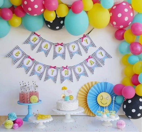 Emoji Birthday Party Idea And Decorations Includes A Cute Balloon Arch
