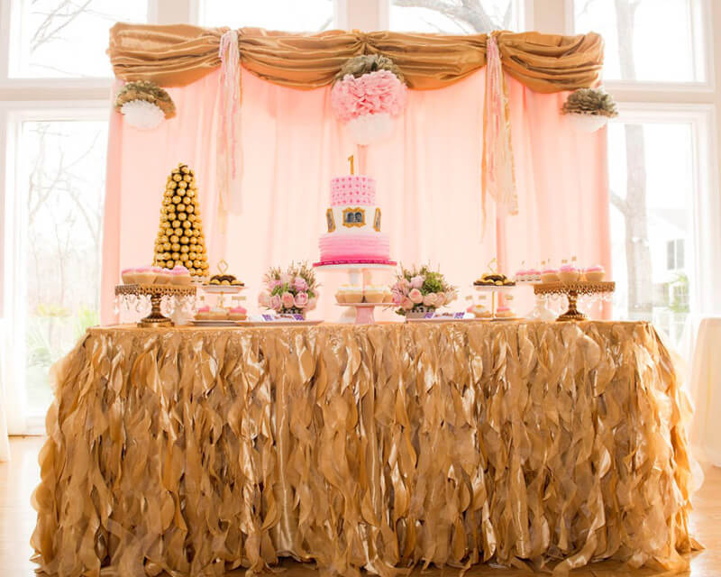 Pink and Gold Party for Two
