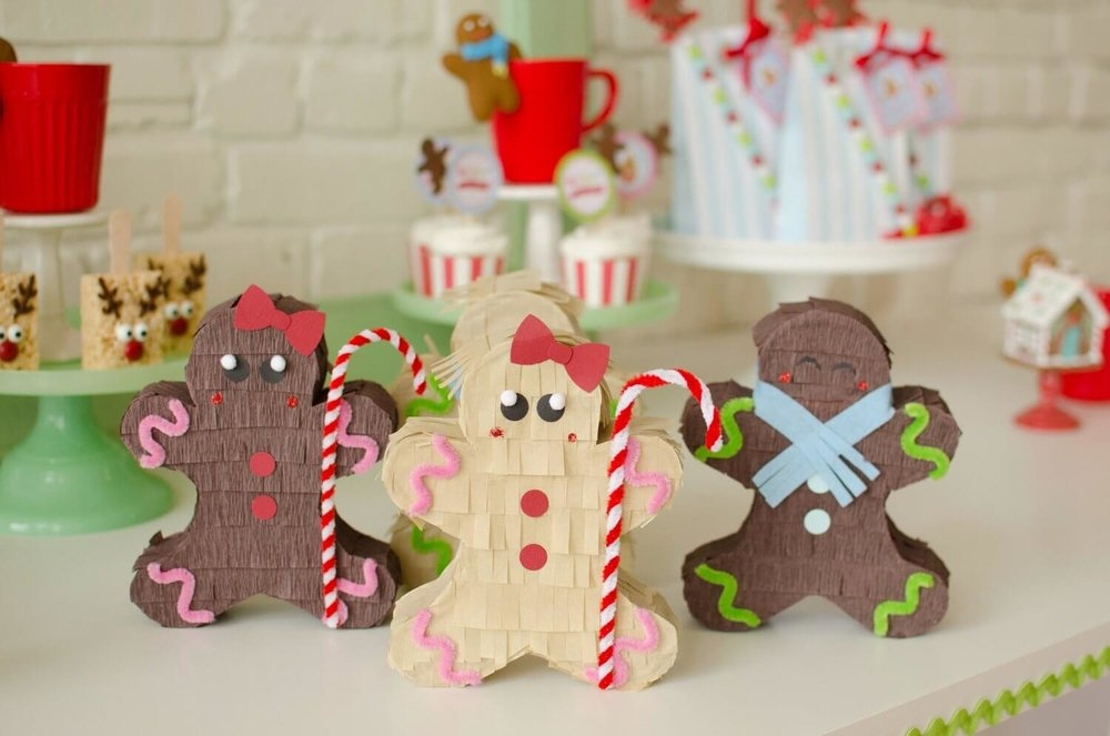 Kids will love this Gingerbread man pinatas, great party decor for any Holiday party plus you can fill them up with your favorite treat