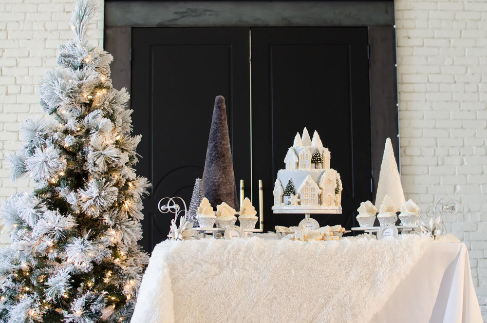 elegant winter bridal shower ideas with white and grey see more from this winter wonderland