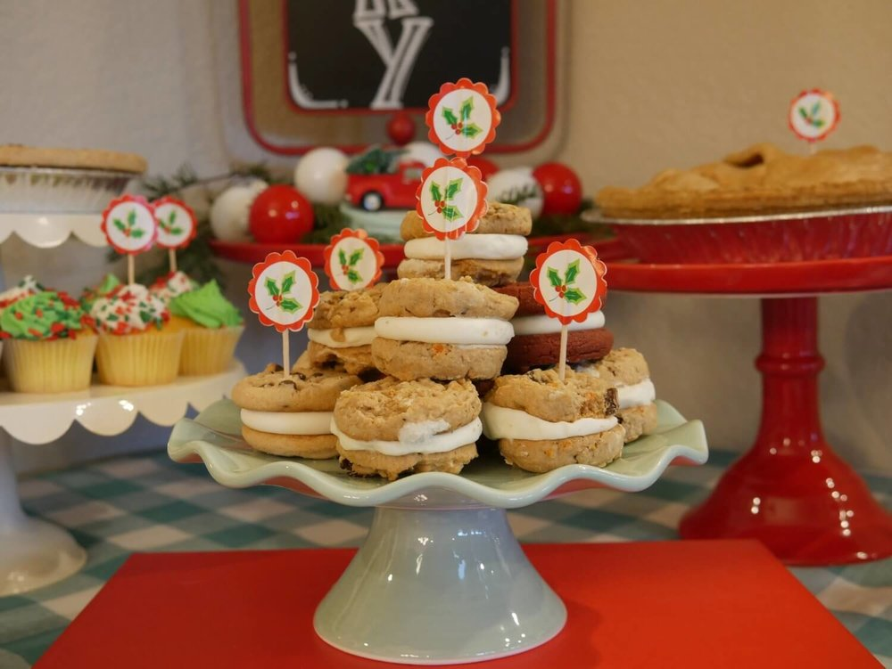 Christmas Desserts Ideas with a  vintage look