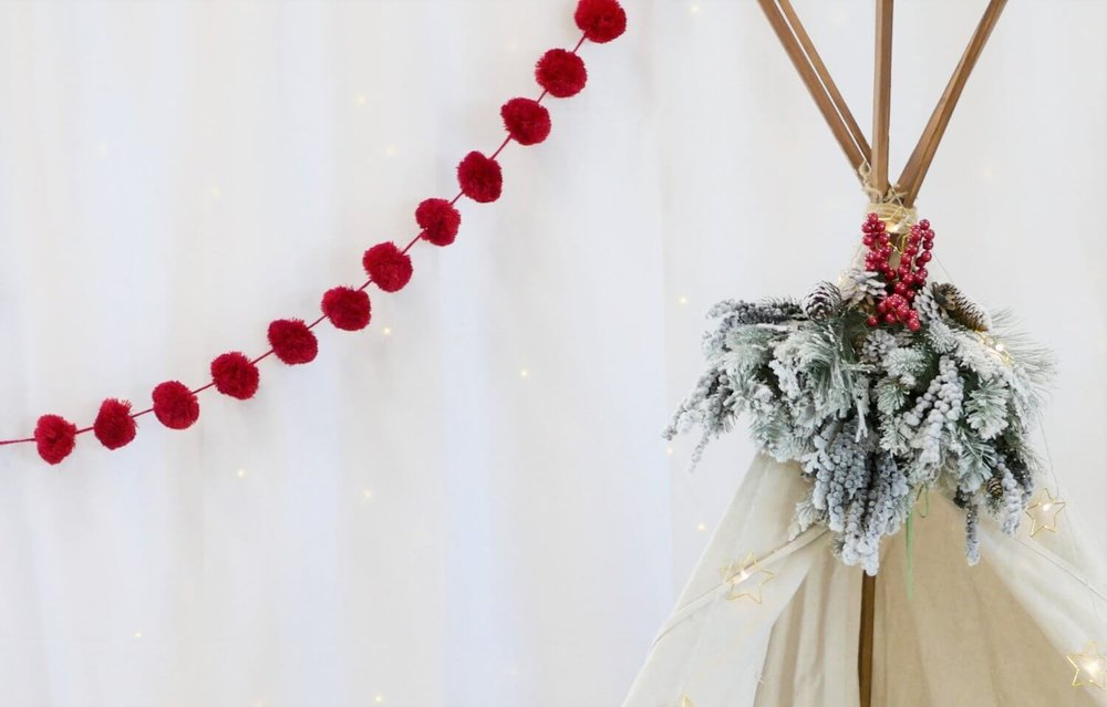 Winter photo booth ideas, it can be used for Christmas holiday as well!