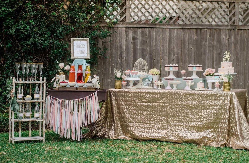 she said yes bridal shower ideas shabby chic bridal shower ideas mimosa bar