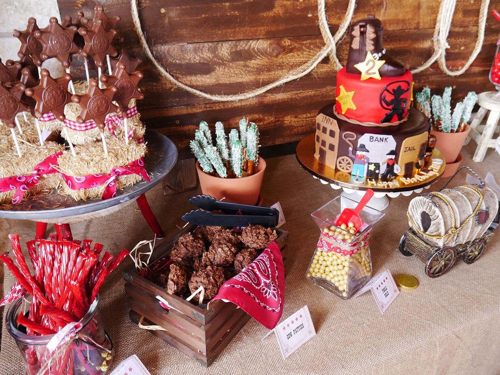 Wild West birthday party dessert ideas