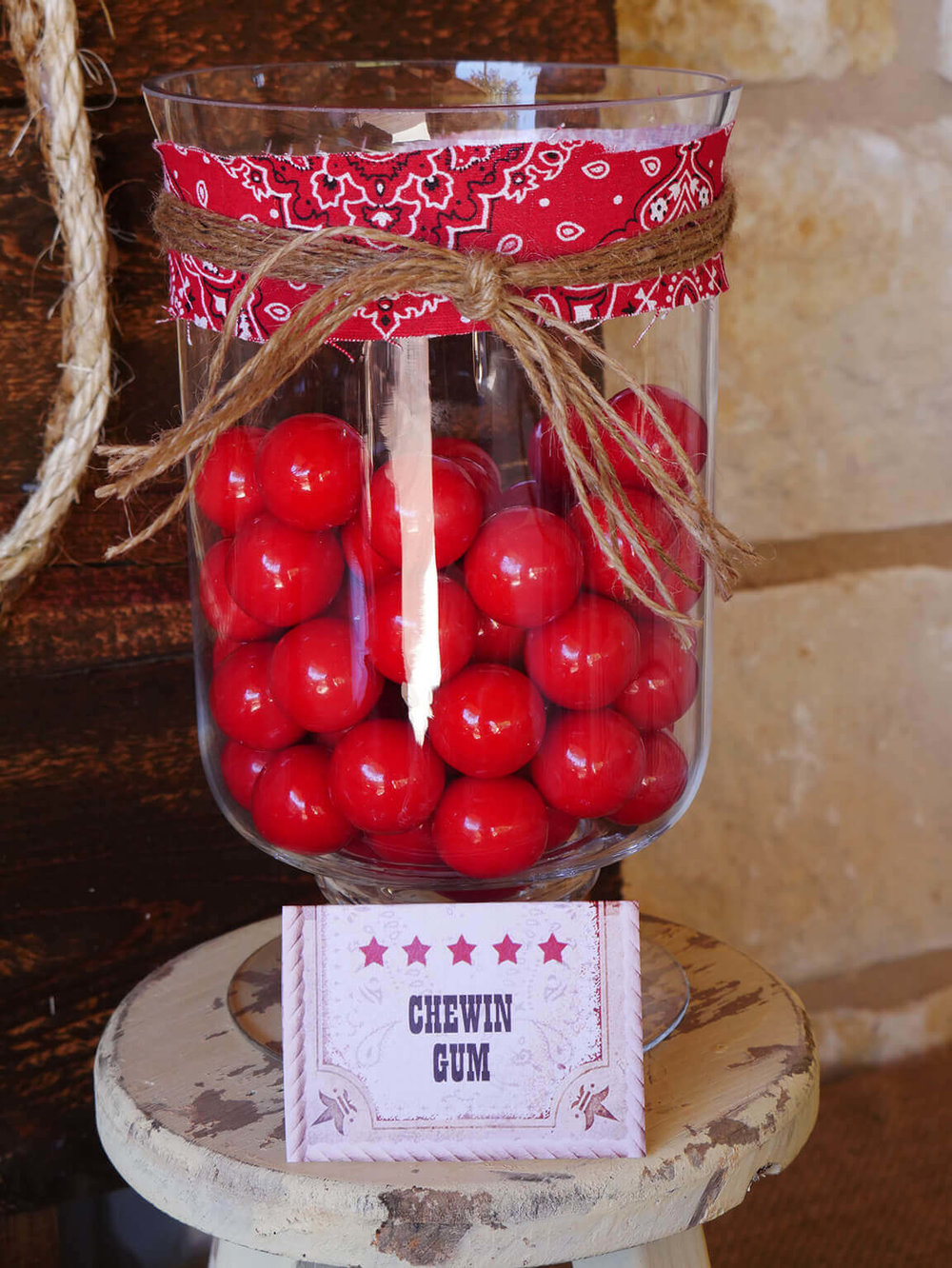Wild West Party Candy bar ideas