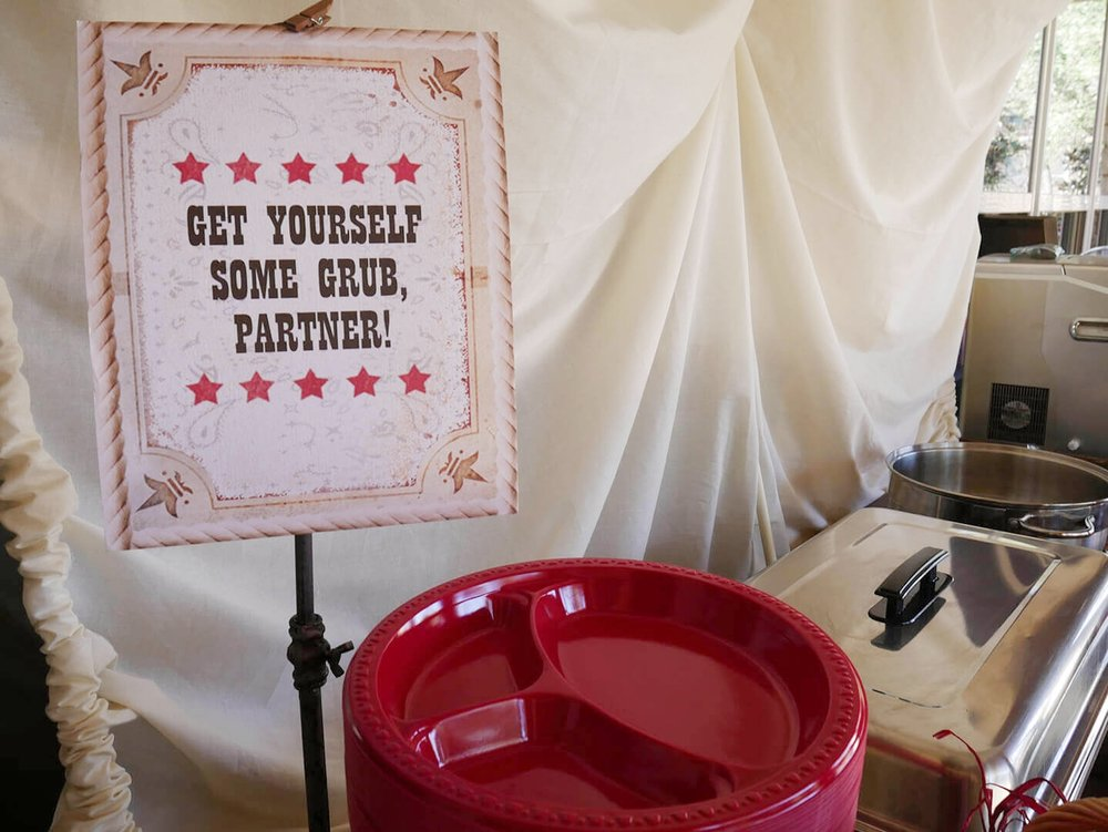 Wild West Birthday Party Food Sign