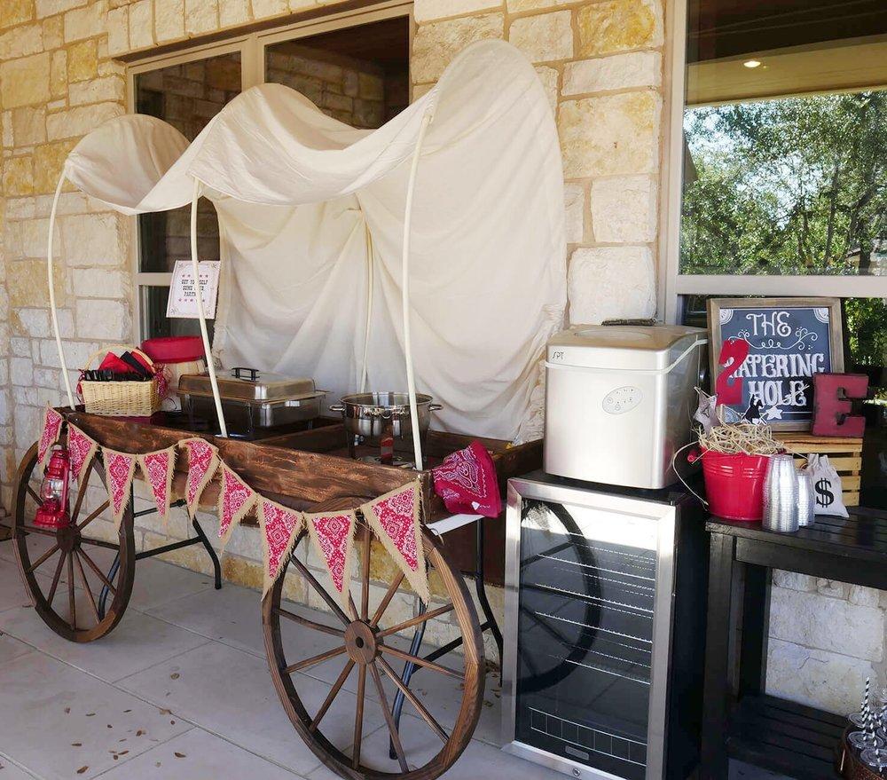 Cowboy Birthday Party Food Station