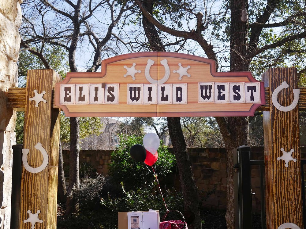 Wild West Birthday Party Entryway Banner