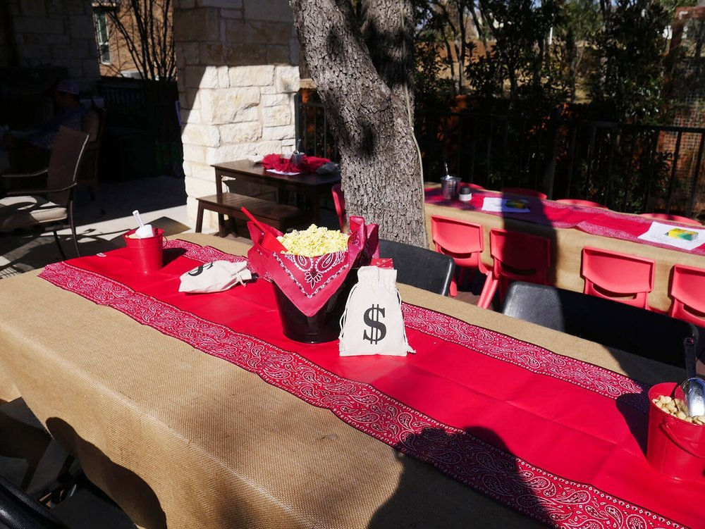 Wild West Birthday Party Kids Table