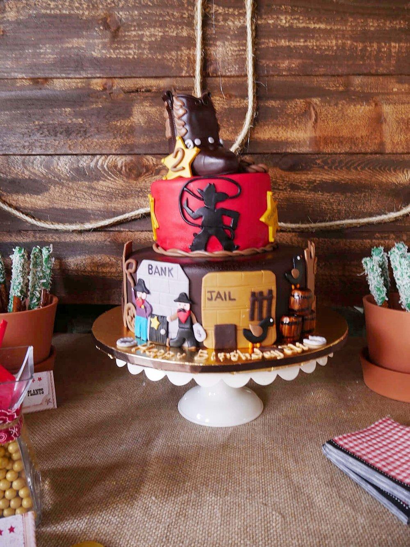 Cowboy Wild West Birthday Cake