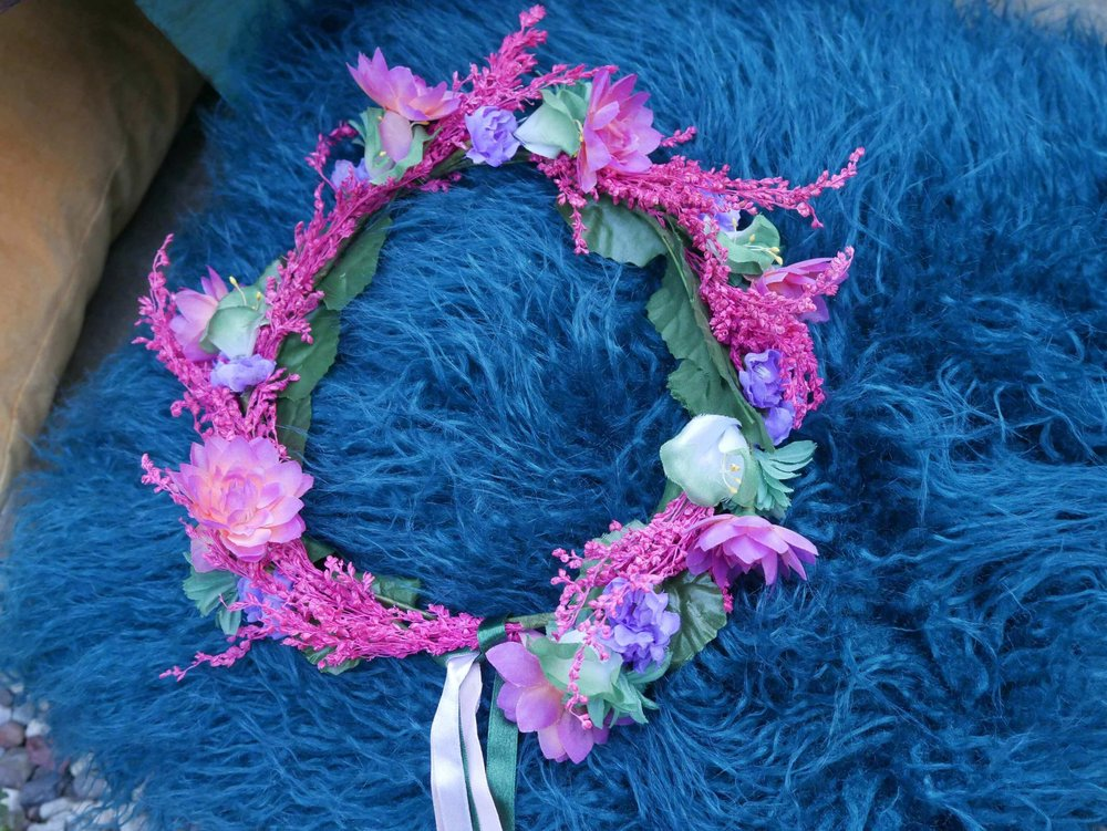 Beautiful floral crown created for the Bride to Be at her bohemian style engagement party. Created by Mint Event Design www.minteventdesign.com #tablesetting #tablescapes #bohochic #flowercrown #floralcrown