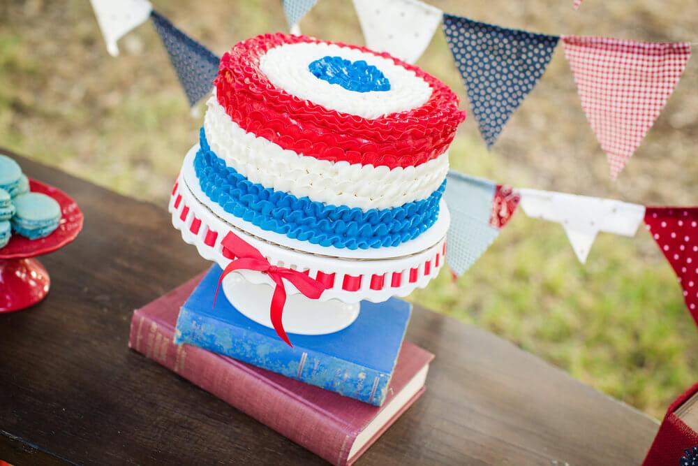 Easy Patriotic cake idea