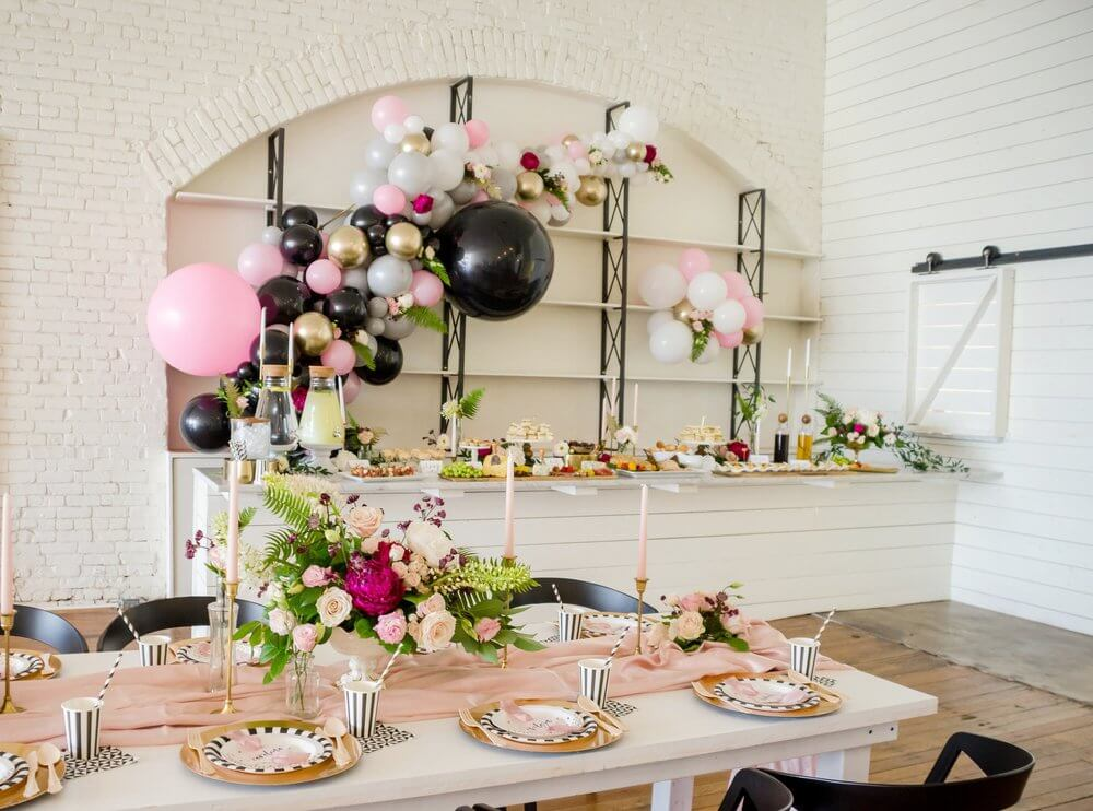 Chic and modern Bridal Shower Brunch inspiration