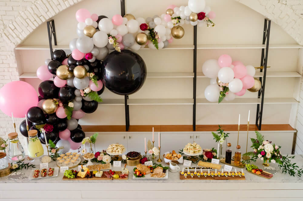 Great idea on how to style food for a bridal shower or day wedding