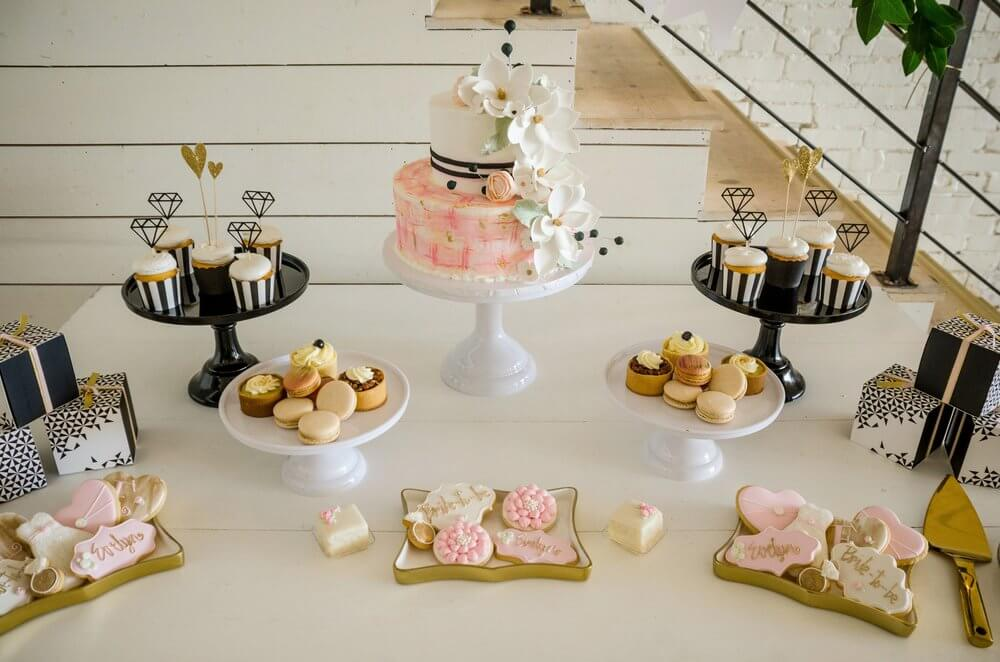Chic and Elegant dessert table for weeding or bridal shower