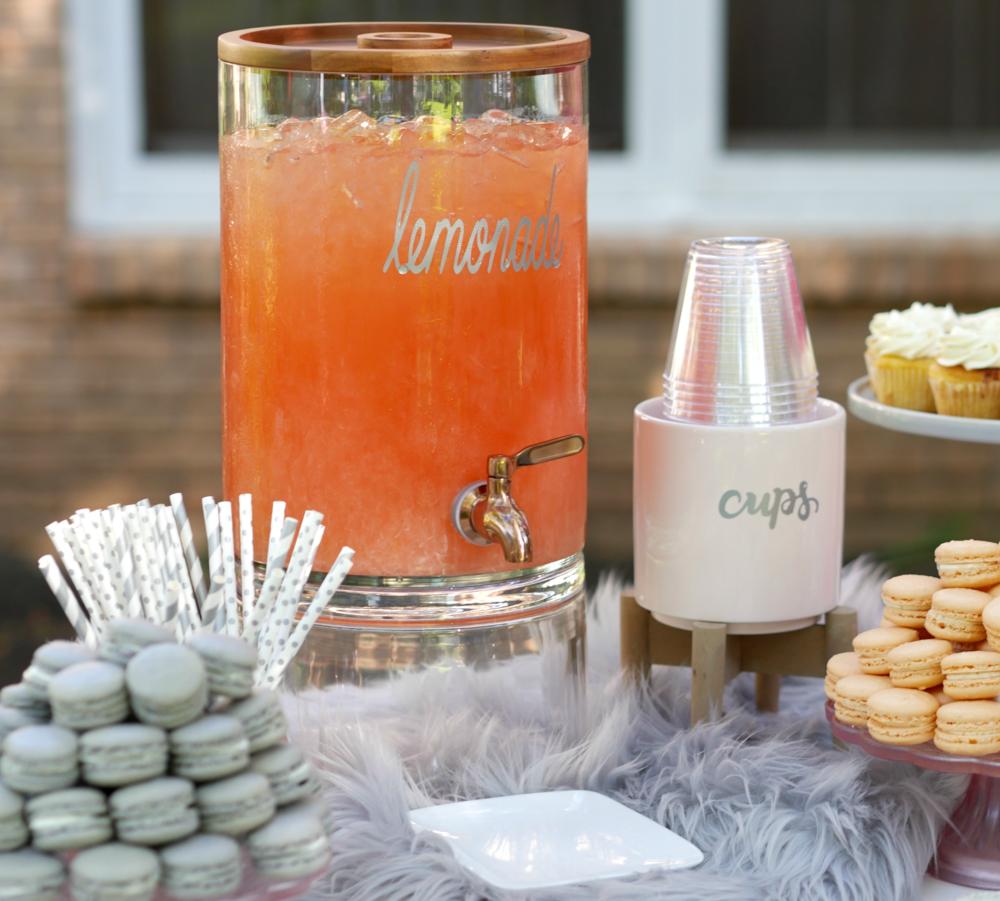 Fun, Modern and colorful dessert table idea.