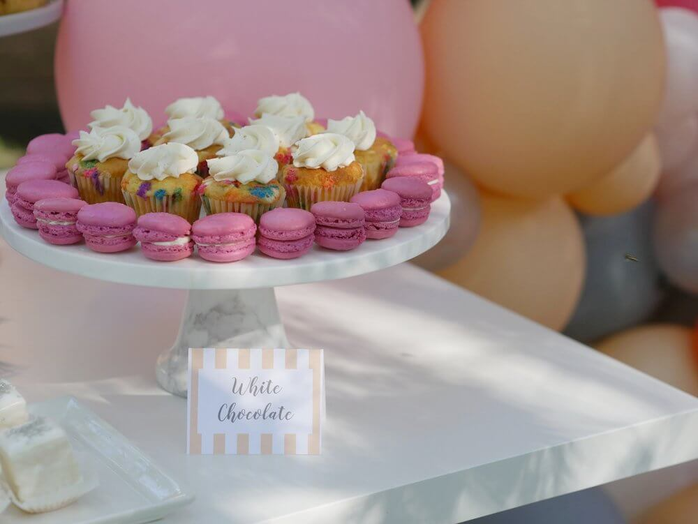 Colorful desserts at Pemberton Heights annual neighborhood block party. Styled by Carolina from MINT Event Design in Austin Texas.