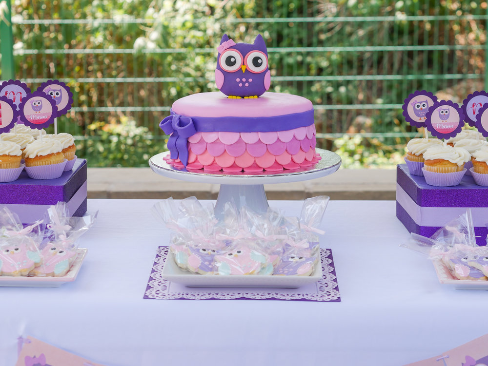 This owl dessert table at a first birthday party is the perfect set up for this Look Whoo's One Birthday Party. Full details on this owl themed first birthday party can be found on www.minteventdesign.com. See over 10 creative party ideas in the Owl First Birthday Party by party stylist Mint Event Design in Austin, Texas. #birthdayparty #partyideas #partyinspiration #owl #firstbirthday #owlcookies #birthdaycookies #birthdaycake #owlcake #partycupcakes
