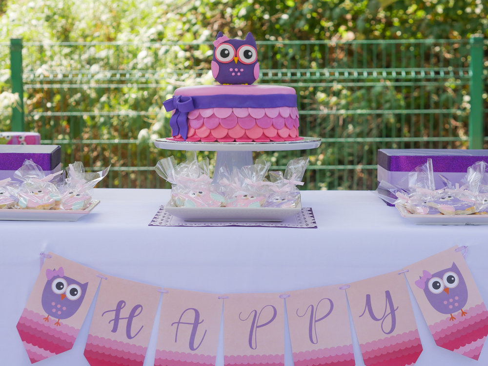 Love the coordinating colors all through this adorable owl party. Full details on this birthday party banner and owl cake can be found on www.minteventdesign.com - it's just one of the many creative party ideas in the Owl First Birthday Party by party stylist Mint Event Design in Austin, Texas. #birthdayparty #partyideas #partyinspiration #owl #firstbirthday #partybanner #birthdaybanner #owlcake #birthdaycake