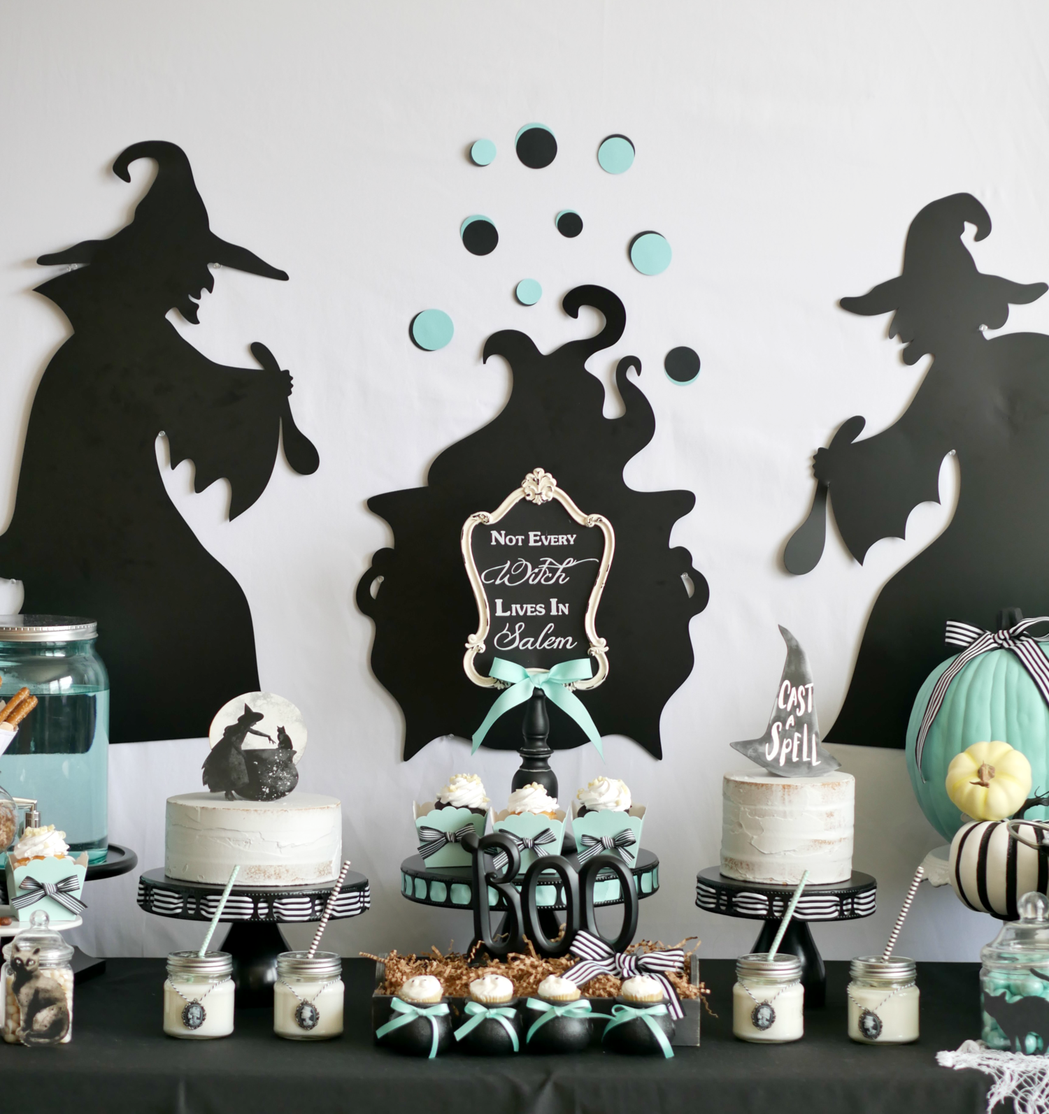 Not Every Witch Lives In Salem Mint Event Design