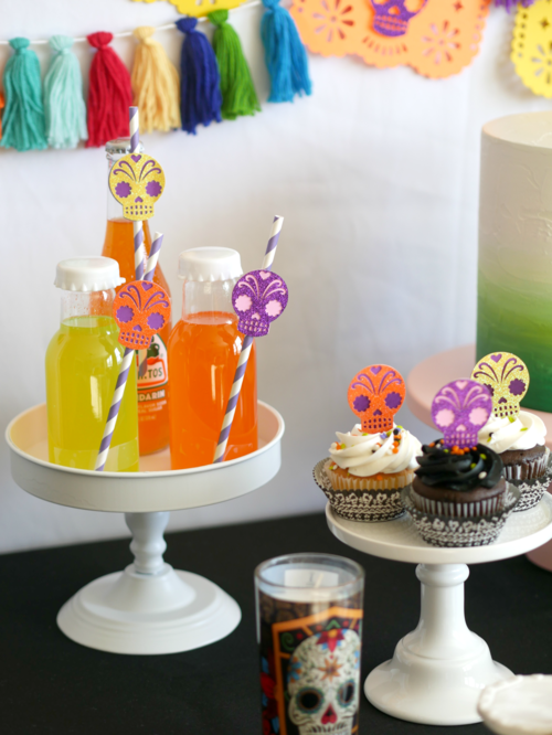 Colorful Mexican Sodas are the perfect drink for a Day of the Dead Halloween Party. Find more Dia de Muertos party inspiration on the Mint Event Design party blog www.minteventdesign.com #dayofthedead #diadelosmuertos #sugarskulls #mexicanparty #halloweenparty #partyideas