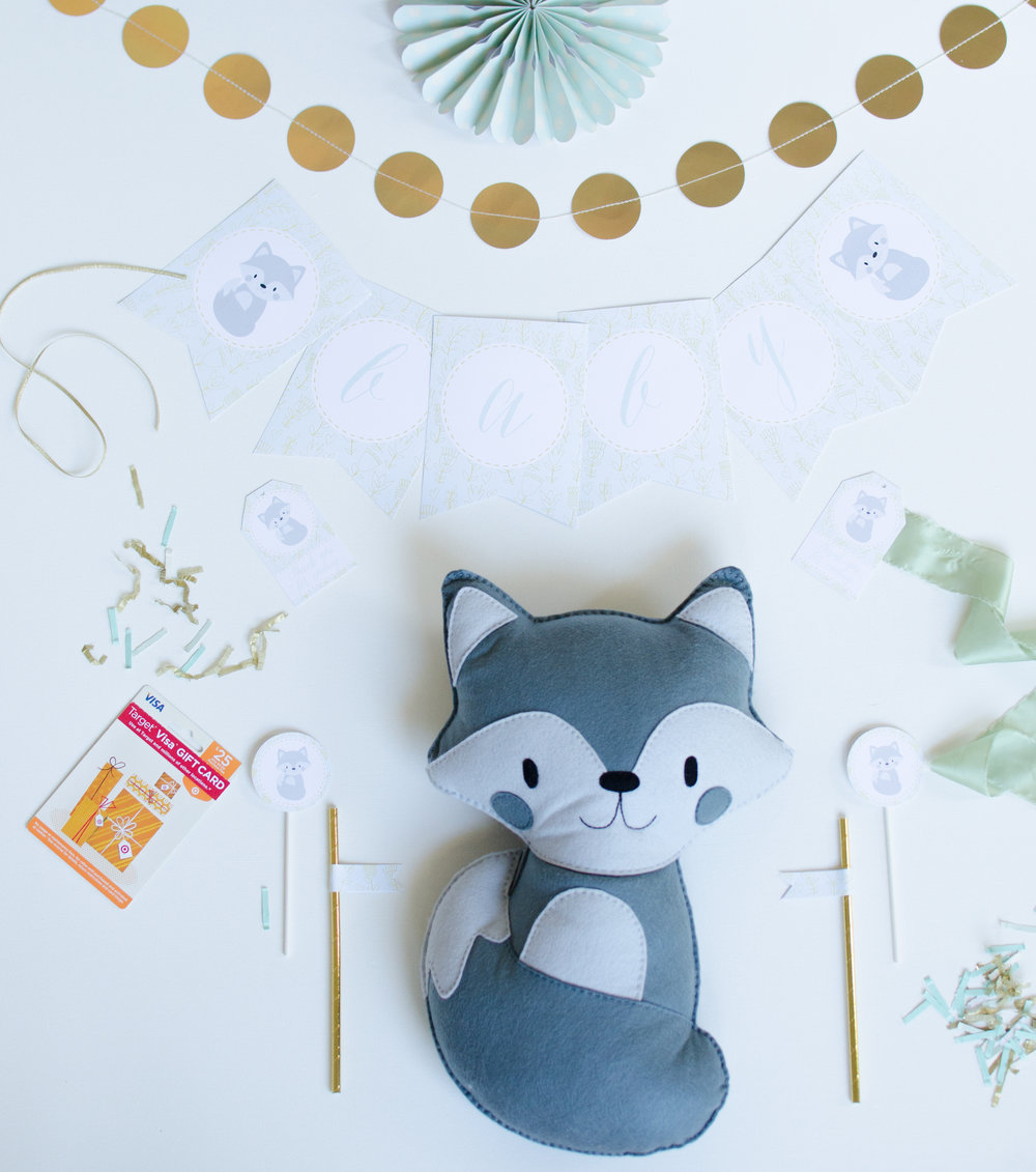 Win this cute fox by entering Mint Event Design's birthday giveaway