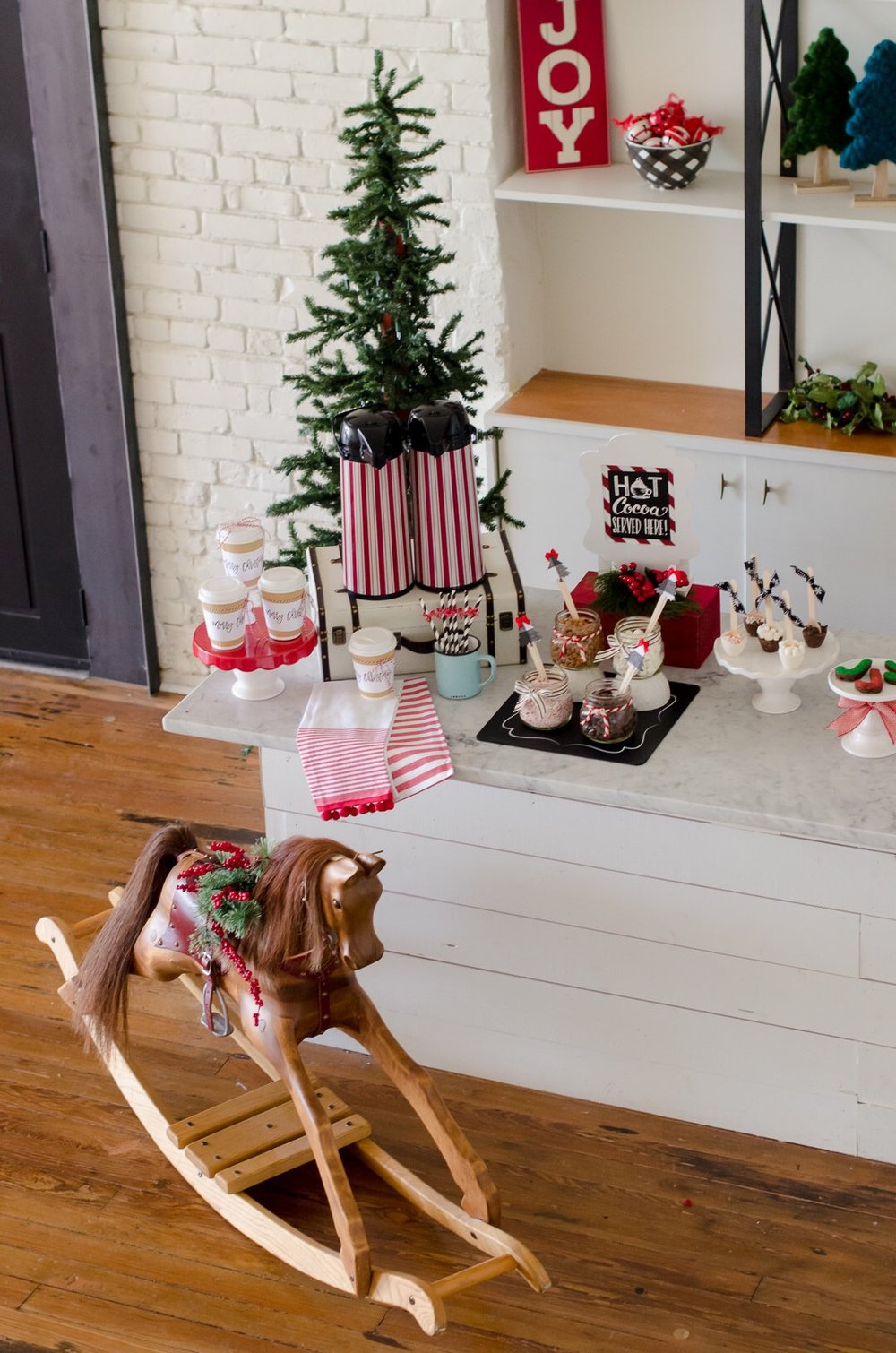 Vintage toys add a touch of childhood to this beautiful Christmas party. See more holiday party inspiration from Austin based party stylist Mint Event Design at www.minteventdesign.com #holidaypartydecor #holidayparty #holidays #partyideas #christmasparty #holidaypartyideas