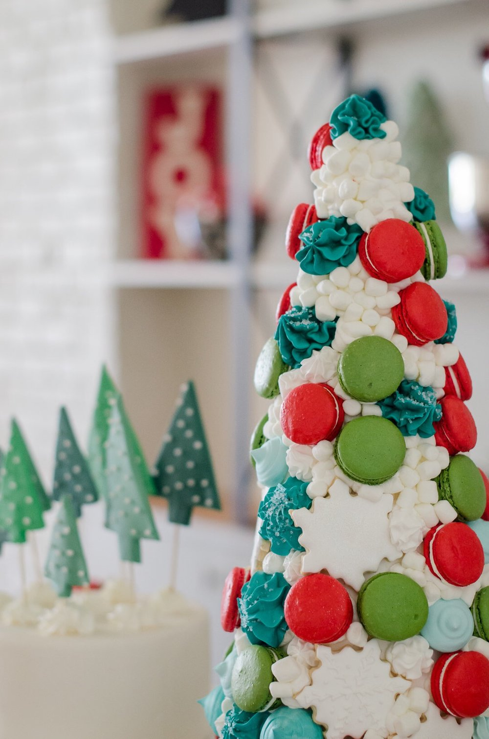 Meringue Tree for Dessert at a beautiful Christmas party. See more holiday party inspiration from Austin based party stylist Mint Event Design at www.minteventdesign.com #desserttable #christmasdesserts #holidayparty #holidays #partyideas #christmasparty #holidaypartyideas